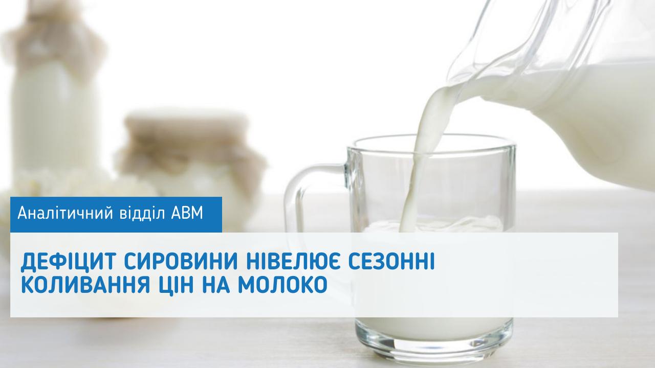 Дефіцит сировини нівелює сезонні коливання цін на молоко